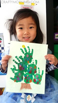 Easy Handprint Christmas Tree Craft for Kids - Crafty Morning