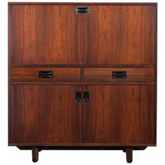 Italian Rosewood Credenza or High Sideboard by 'Stildomus', 1960s | 1stdibs.com