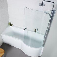 Laundry Room Bathroom, Bathroom Layout, Family Bathroom, Small Bathroom Plans, Small Bathroom Interior, Small Bathrooms, Toilet And Sink Unit, P Shaped Bath, Shower Over Bath