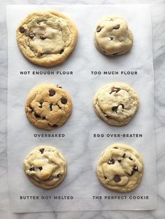 CookieGuideTyped Soft Chocolate Chip Cookies, Chocolate Chip Recipes, Chocolate Chips, Chocolate Cake, Cookie Desserts, Cookie Recipes, Dessert Recipes, Perfect Cookie, Cookies Et Biscuits