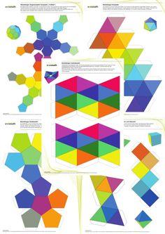 Mathematical Paper Craft: Set of Five Patterns