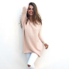 Women Sweaters And Pullovers Knitted Loose Sweater Women Long Sleeve Causal Solid V Neck Ladies Tops Women Clothing LJ5409T