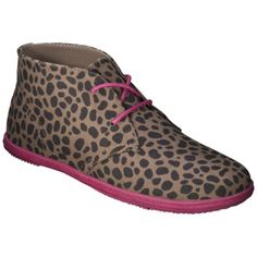 Girl's Xhilaration® Girls Softy Chukka - Leopard