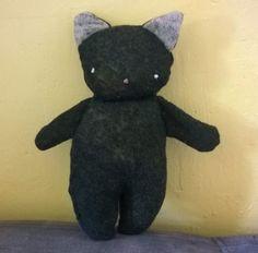 black cat, diy, recycled material