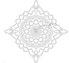 crochet diamond chart