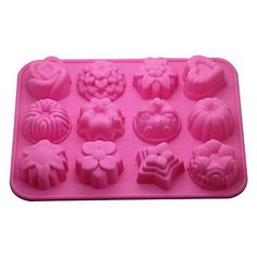12-in-1 Soft Rubber Cake / Bread / Mousse / Jelly / Chocolate Mold(Random Color) – USD $ 4.99