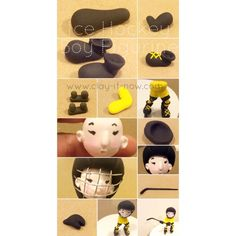 How to make boy figurine playing ice hockey? here is the step-by-step tutorial