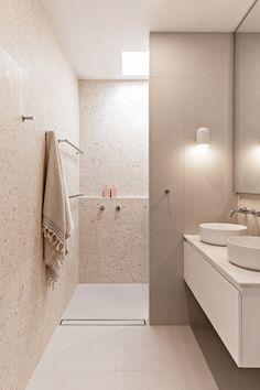 Reece Bathroom, Bathroom Pink, Terrazo, Terrazzo Tile, Bathroom Renos, Bathrooms, House And Home Magazine, Bathroom Interior Design, Bathroom Inspiration