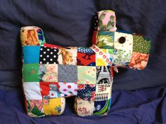 Scottie Dog Pattern | ve never done patchwork with small pieces before, but it was very ...