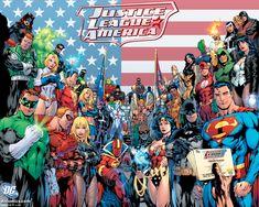 Justice League Of America / JLA - DC Comics GIANT XXL Poster (Superman, Batman, Wonder Woman, Green Lantern.) (Size: x Giant DC Comics Poster Size: x Ships rolled in sturdy cardboard tube New 52, Arte Dc Comics, Marvel Comics, Marvel Vs, Hero Poster, Fanart, Justice League Unlimited, Comic Kunst, Dc Heroes