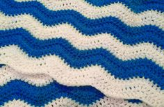 Ripple Afghan  Custom Chevron Baby Blanket by afewlittlebumps