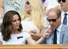 Catherine, Duchess of Cambridge and Prince William, Duke of Cambridge attend day thirteen of the Wimbledon Lawn Tennis Championships 2017 held at the All England Lawn Tennis and Croquet Club on July 16, 2017 in London, England,