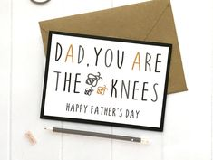 A personal favourite from my Etsy shop https://www.etsy.com/uk/listing/604809558/the-bees-knees-fathers-day-card-fathers