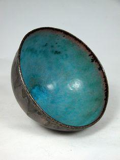 stoneware bowl - blue-Olia Lamar