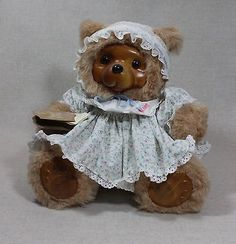 Robert Raikes Wooden Faced Beige Bear Susie Limited Edition 1988 #17008 IOB *