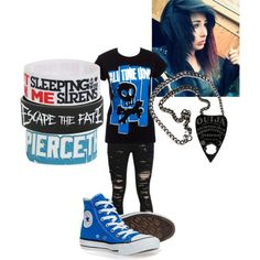 I want that necklace so badly.and the clothes XD Band Outfits, Scene Outfits, Emo Outfits, Grunge Outfits, Fashion Outfits, Women's Fashion, Trendy Teen Fashion, Christmas Shoes, Band Merch