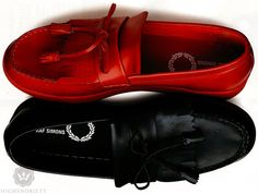 Raf Simons and Fred Perry collaboration loafers