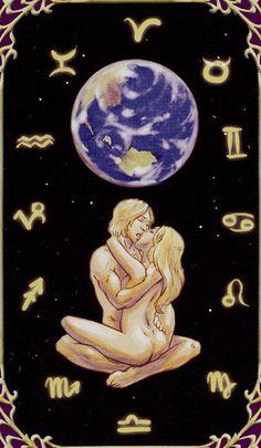 Oneness (The World) - Sensual Wicca Tarot Wicca, The World Tarot Card, Strange Magic, Online Tarot, Fantasias Halloween, Love Tarot, Fantasy Pictures, Fantasy Romance, Tarot Spreads