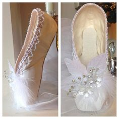 Frozen  Disney Inspired Decorated Pointe Shoe  by FantaisieDesigns