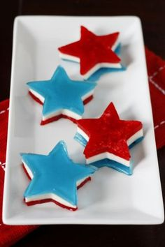 Jell-O molds might have gone out of style, but we still love the wiggly dessert. Plus, the Fourth is the holiday when stars and stripes are most appropriate, after all. Click through for this and more recipes for red, white and blue Fourth of July desserts.