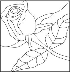 Glass Painting Patterns Free | glass painting designs: Pink Rose - glass painting patterns