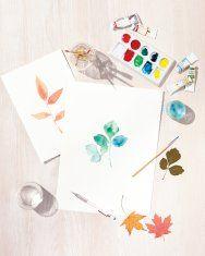 Favorite Fall Craft: Watercolor Leaves
