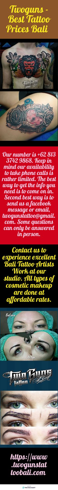 Cosmetic Tattoo is a great help to the people who can't daily go to parlor due to no sight. Visit Twoguns - Best Tattoo Prices Bali today. Visit website: http://www.twogunstattoobali.com/