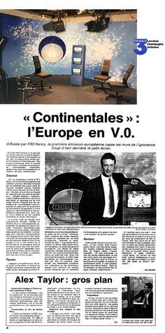 """Lami Gérard - 1992-Réalisation avec Régine Lami du décor du studio """"Continentales"""" (Euro journal d'Alex Taillor-FR3 Nancy (Conception C. Savely)"""