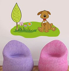 Nature Bedroom, Kids Bedroom, Wall Stickers Murals, Wall Decal Sticker, Wall Colors, Nursery, Wall Art, Easy Wall, Dogs