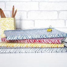 Our beautiful and practical notebooks are made from recycled materials. Finished with a textured look (a bit like leather) they are eco and animal friendly. All of our beautiful rich prints and patterns are hand-screen printed using eco-friendly dyes. Chevron Patterns, Print Patterns, A5 Notebook, Recycled Materials, Notebooks, Journals, Screen Printing, How To Draw Hands, Recycling