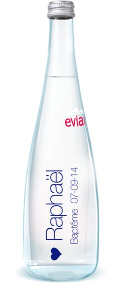 Evian Pure, bouteille evian personnalisée - MyEvian Water Packaging, Carafe, Pure Products, Party, Inspiration, Personalised Water Bottles, Biblical Inspiration, Parties, Decanter