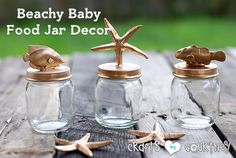 Don't throw away those empty baby food jars just yet. We've got crafting to do! Add to your beach themed decor with this clever baby food jar home craft.