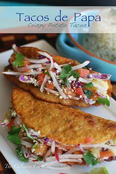 Tacos de Papa (Crispy Potato Tacos)