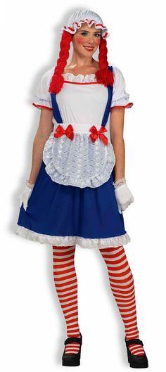Rag Doll Raggedy Ann Doll Dress Costume Adult Womens