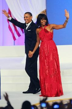 January 20, 2013: Inauguration Day ~ President Barack Obama & First Lady Michelle Obama at an inaugural ball on January 20, 2013, the first day of his second term as president.