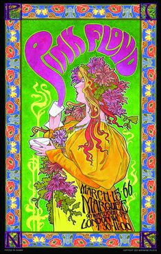 "Pink Floyd ""Mad Hatters Tea Party"" Concert Poster"