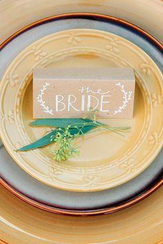 table setting ideas #yellowwedding http://www.weddingchicks.com/2013/11/22/van-gogh-inspired-wedding-ideas/