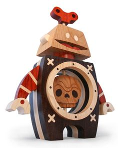 'Dead Inside': wooden toys by Cameron and Rachael Tiede's Wood Candy Workshop