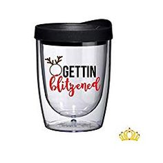 Gettin Blitzened Funny Christmas Wine Glass Tumbler with Lid - White Elephant Gift Idea Christmas Wine Glasses, Christmas Tumblers, Tumblers With Lids, Wine Tumblers, Beard Grooming Kits, Christmas Humor, Christmas Holiday, Hallmark Christmas, Christmas Ideas