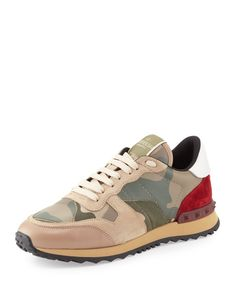 Pin for Later: Your Guide to Every Spring Shoe Trend, Every Price Sneakers Valentino Rockstud Camo Print Sneaker, Taupe ($795)