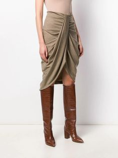 Isabel Marant Drapierter 'Datisca' Rock - Farfetch Weekender, Isabel Marant, Draped Skirt, Silhouette, Cosmopolitan, Parisian, Harem Pants, Women Wear