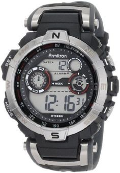 Armitron Sport Men's 408231RDGY Digital Watch #ArmitronSport