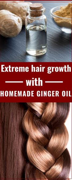 Homemade Ginger Hair Oil For Long & Extreme Hair Growth - Hair Care - Yorgo Angelopoulos Extreme Hair Growth, Hair Growth Tips, Natural Hair Growth, Ginger Hair Growth, Healthy Hair Growth, Ginger Oil For Hair, Silky Hair, Smooth Hair, Reduce Hair Fall