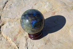 Labradorite Crystal Ball Flashy Labradorite by TherapyStonesOne
