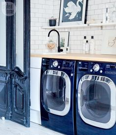 Basement renovation: Stylish laundry room nook {PHOTO: Ashley Capp}