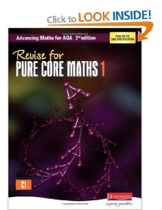 Revise for Pure Core Maths 1 Advancing Maths for AQA 2nd edition: Amazon.co.uk: Tony Clough: Books