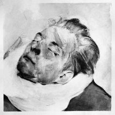 """Head Study (Victim),"" original figurative painting by artist Michał Janowski (UK) available at Saatchi Art #SaatchiArt"