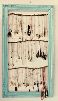 Framed branches jewelry rack
