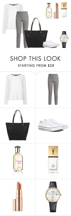 """""""Today's choice: Spring look"""" by mag1727 ❤ liked on Polyvore featuring Tommy Hilfiger, Altuzarra, Converse, Yves Saint Laurent and Estée Lauder"""