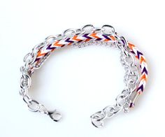 Friendship Bracelet and Chains Arm Party Chevron by kibblesnknits, $10.00